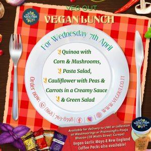 Wednesday 7th April Vegan Lunch