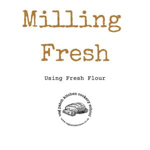 milling fresh flour