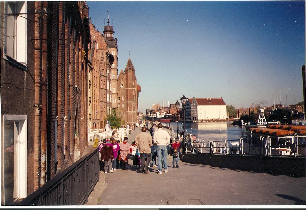 Grupo de turistas em Gdansk