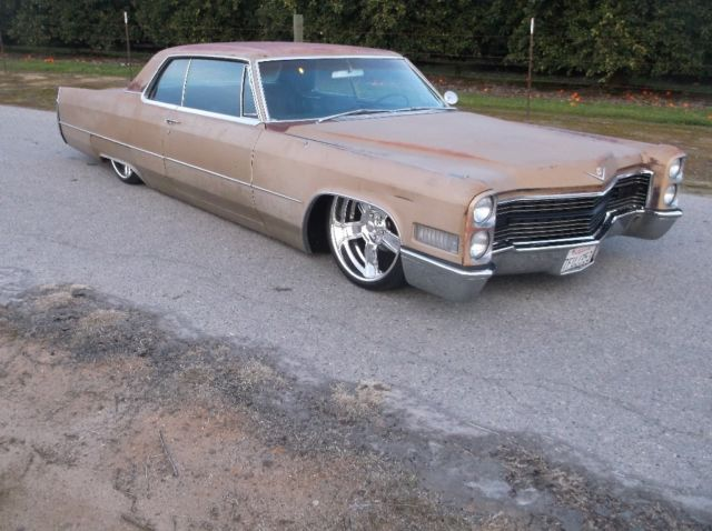 1966 Cadillac Coupe Deville Bagged Ratrod Patina Custom