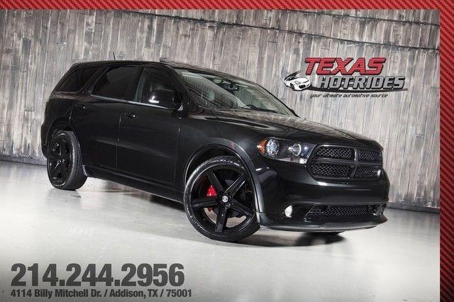 2012 Dodge Durango RT 57L Hemi V8 All Black SRT8 Wheels