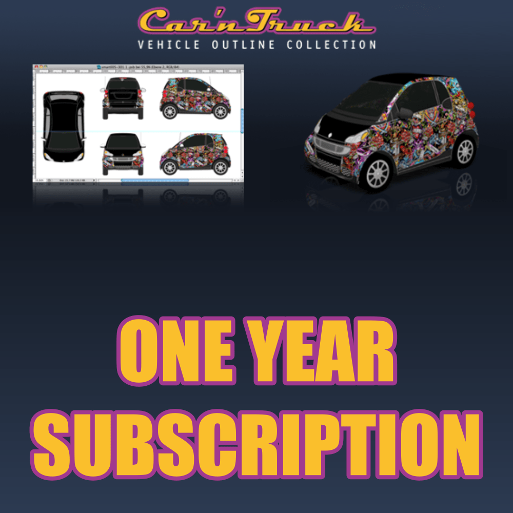 Car U0027n Truck Vehicle Outline Collection   One Year Subscription