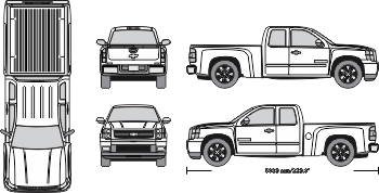 Vehicle templates vehicle wraps vehicle outline collection for Truck wrap templates