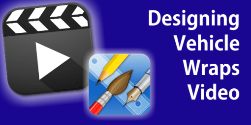 Designing Vehicle Wraps With Vehicle Templates in iDraw on iPad Video Tutorial