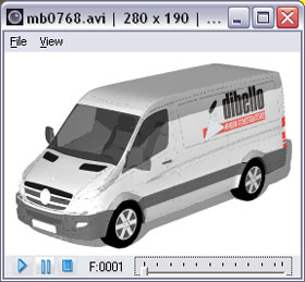 Animation rendering window