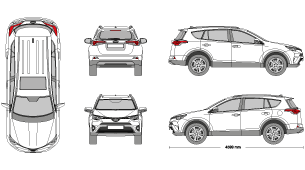New Ford, Kia, Toyota & Volkswagen Vehicle Templates - Vehicle ...