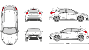 New Ford, Kia, Toyota & Volkswagen Vehicle Templates - Vehicle ...
