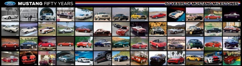 Fifty Years Ford Mustang