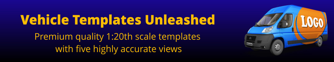 Premium Quality 1:20th Scale Templates With Five Highly Accurate Views