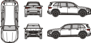 MERCEDES BENZ GLB 2019 vehicle template