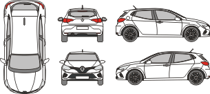 RENAULT Clio 2019 vehicle Template
