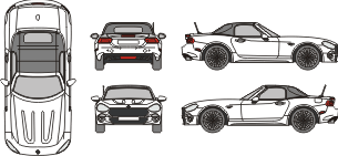 ABARTH 124 Spider 2016 template