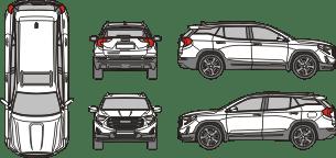 GMC Terrain 2017 Vehicle Template
