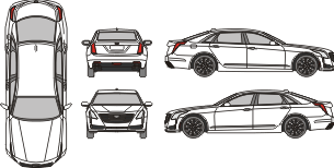 CADILLAC CT6 2016 Vehicle Template