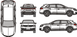 LINCOLN MKX 2015 Vehicle template