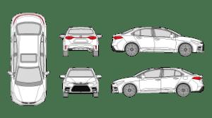 TOYOTA Corolla 2018 Vehicle Template