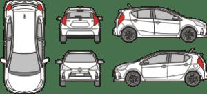 TOYOTA Prius C 2011 Vehicle Template