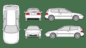 HONDA Civic 1992 Vehicle Template