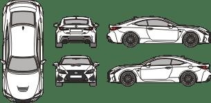 LEXUS RC-F 2019 Vehicle Template