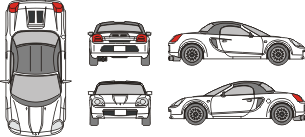 TOYOTA MR 2 2005 Vehicle Template