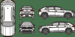 VOLKSWAGEN Atlas 2020 Vehicle Template