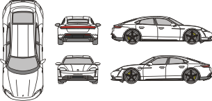 PORSCHE Taycan 2020 vehicle template