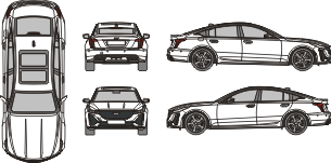 CADILLAC CT5 - V 2021 Vehicle Template
