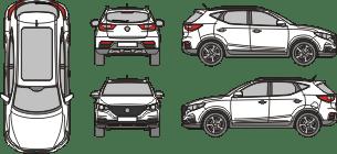 MG ZS EV 2021 Vehicle Template