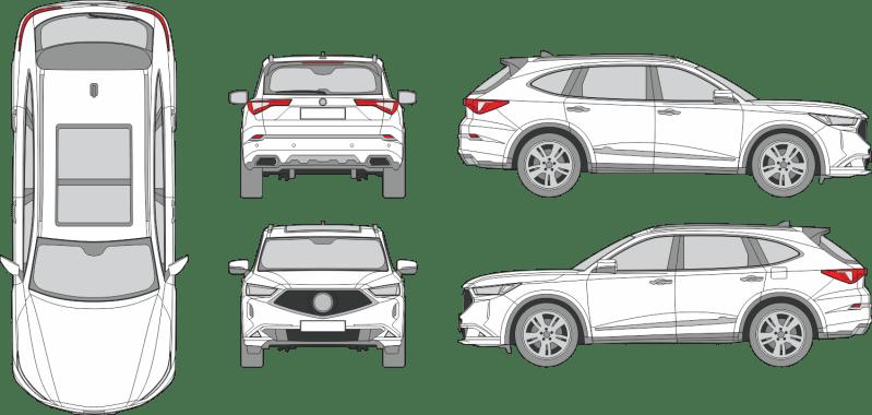 Acura MDX 2020 Vehicle Template