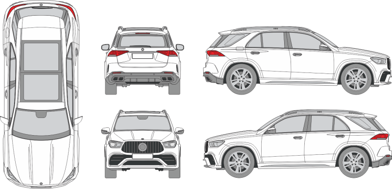 Mercedes Benz GLE AMG 2021 Vehicle Template