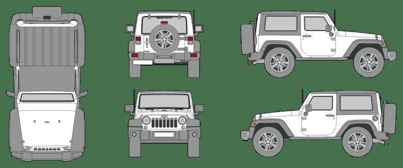 Jeep Wrangler 2018 2-Door Vehicle Template