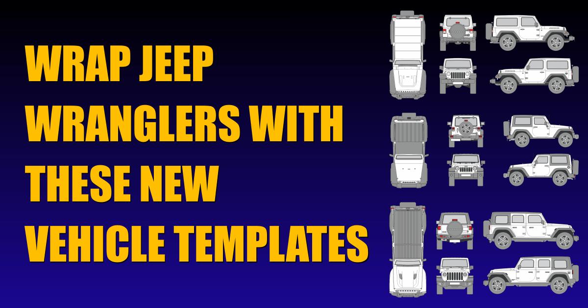 Jeep Wrangler Vehicle Templates