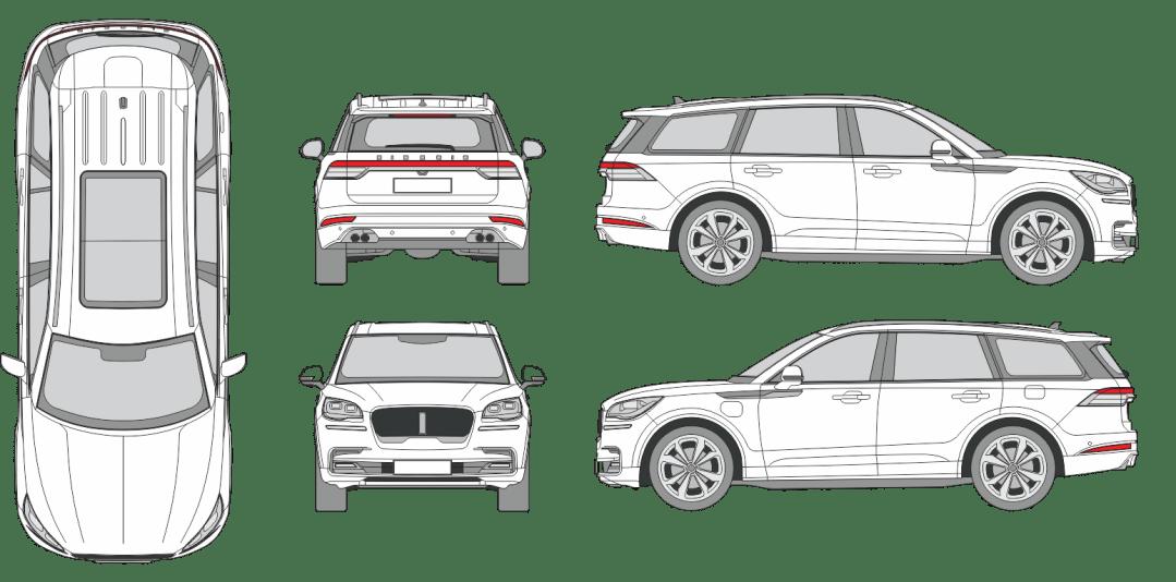 Lincoln Aviator 2019 Vehicle Template