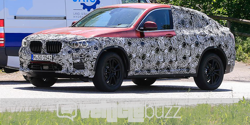 spy photo of 2018 BMW X4 on the street