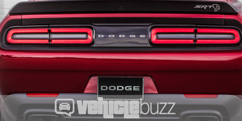 Rear view of the 2018 Dodge Challenger SRT Hellcat Widebody