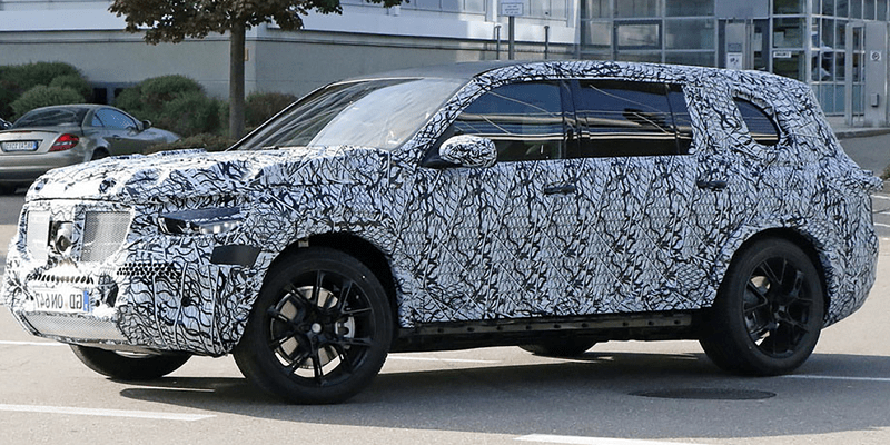 Spy photo of the 2019 Mercedes GLS
