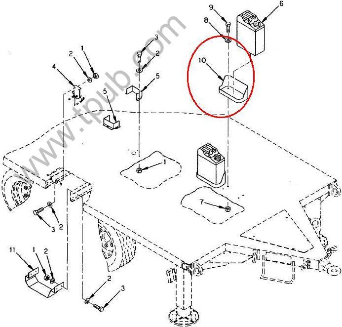 2590-00-473-6331 Bracket, Vehicular Components