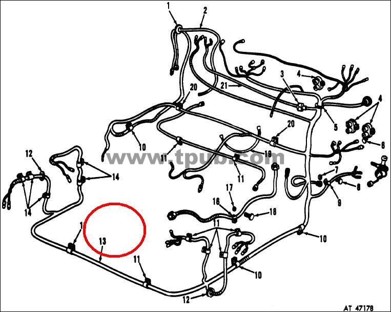 2590-00-060-7236 Wiring Harness, Branched