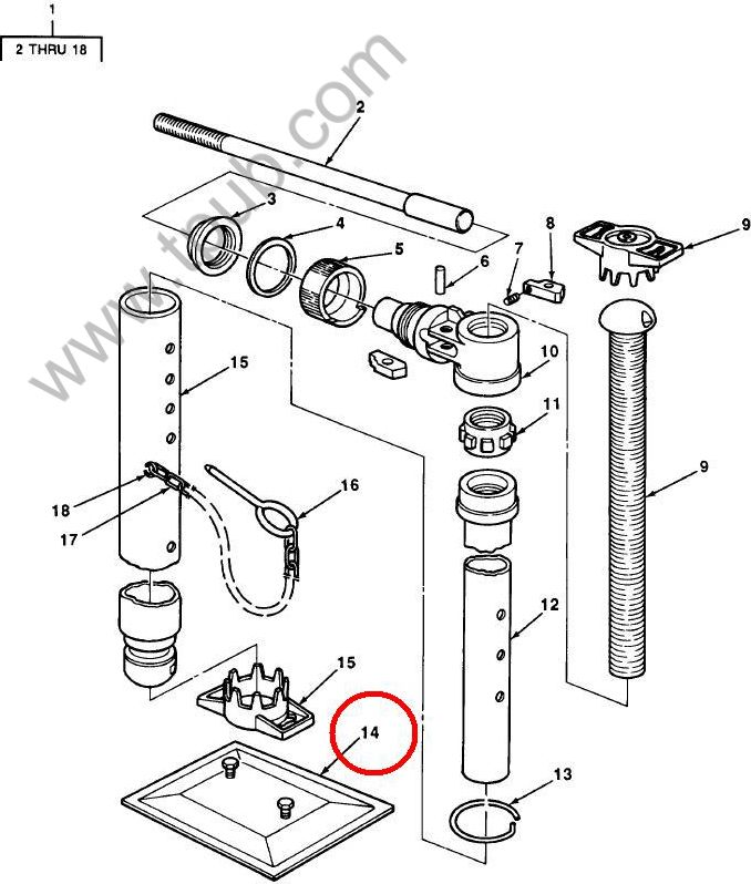 2590-00-870-9937 Plate, Foot, Leveling