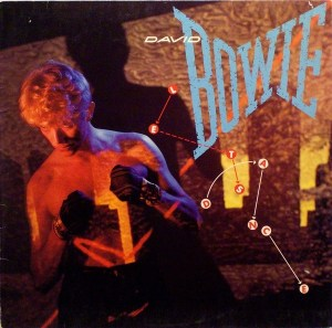 "Cover art for Bowie's 'Let's Dance.' The hit album featured the likes of ""Modern Love,"" the title track, and ""China Girl,"" a song he originally wrote for Iggy Pop's 'The Idiot.'"