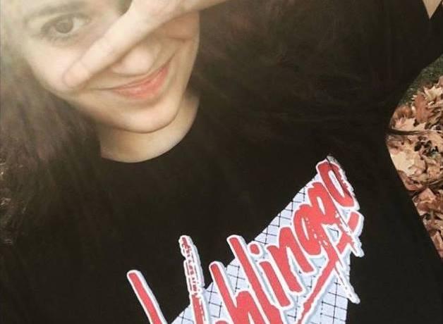 Nola Wren wearing a Vehlinggo t-shirt