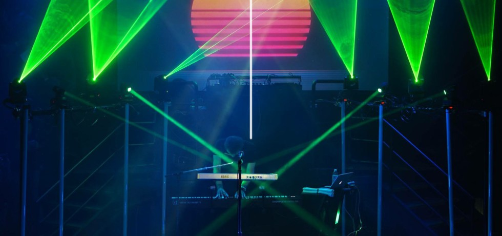 FM-84 performs live at the DNA Lounge in San Francisco on July 14.