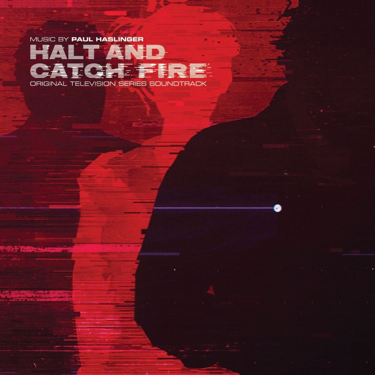 Cover art for the Lakeshore/Fire release of Paul Haslinger's 'Halt and Catch Fire' score.