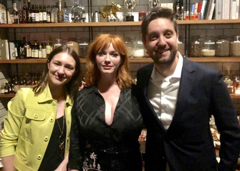 Sonya Belousova, Christina Hendricks and Giona Ostinelli The Romanoffs