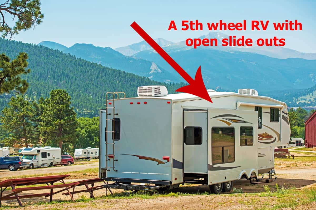 hight resolution of rv with slide outs open