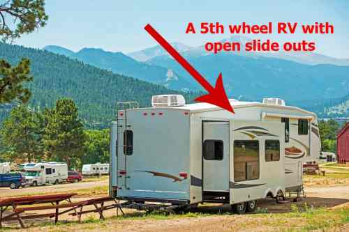 small resolution of rv with slide outs open