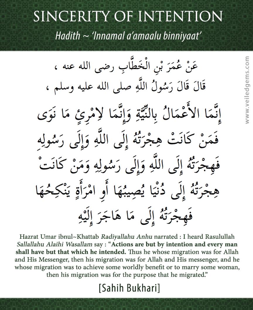 "Innamal A Malu Binniyat Arabic : innamal, binniyat, arabic, Veiled, Towards, Reformation, Archive, Innamal, A'malu, Binniyat, ""Actions, Dependent, Their"