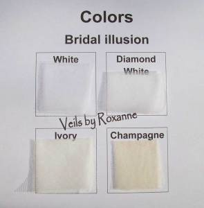 colors of bridal illusion veils