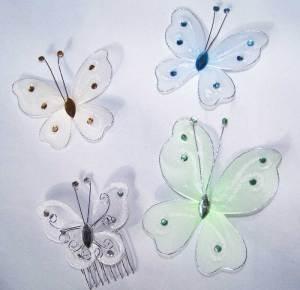 Butterflies on bridal veils