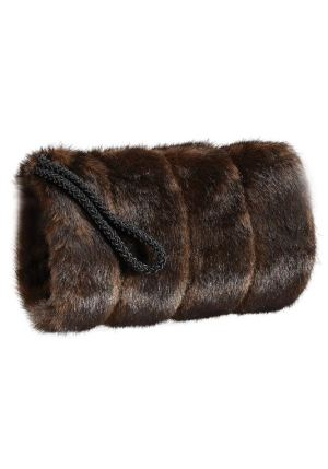 sable hand muffs front view
